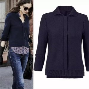 CAbi Sweaters - 🆕 CAbi Belong Pursuit Cardigan in Navy/Black